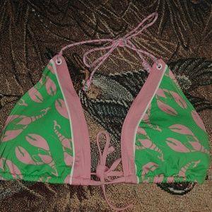 Sperry Topsider Lobster Bikini Top Sz Med